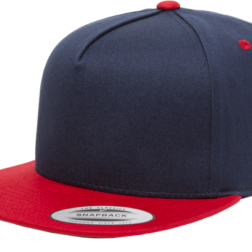 YUPOONG CLASSIC 5 PANEL MODEL # 6007T - NAVY RED