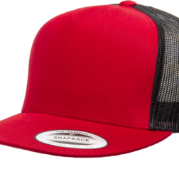 YUPOONG CLASSIC TRUCKER MODEL #  6006T - RED BLACK