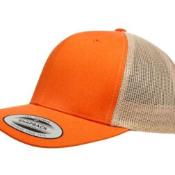 YUPOONG CLASSIC RETRO TRUCKER MODEL # 6606T - RUST ORANGE KHAKI