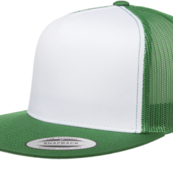 YUPOONG CLASSIC TRUCKER MODEL # 6006W - GREEN WHIT