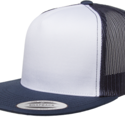 YUPOONG CLASSIC TRUCKER MODEL #  6006W - NAVY WHITE