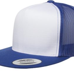 YUPOONG CLASSIC TRUCKER MODEL # 6006W - ROYAL WHITE