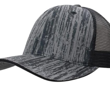 4144 Wood Printed With Mesh Back - black