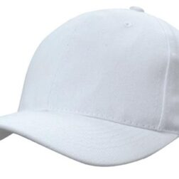 Brushed Heavy Cotton With Snap Back white
