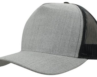 Grey Marle American Twill With Mesh Back 3821