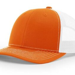 112 TWILL/MESH SNAPBACK SPLIT WHITE/ORANGE