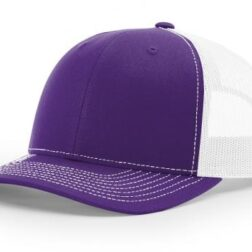 112 TWILL/MESH SNAPBACK SPLIT PURPLE/WHITE
