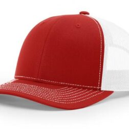 112 TWILL/MESH SNAPBACK SPLIT RED/WHITE