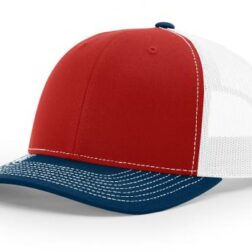 112 TWILL/MESH SNAPBACK RED/WHITE/NAVY