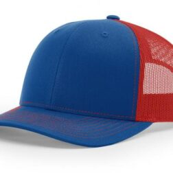 112 TWILL/MESH SNAPBACK SPLIT ROYAL/RED