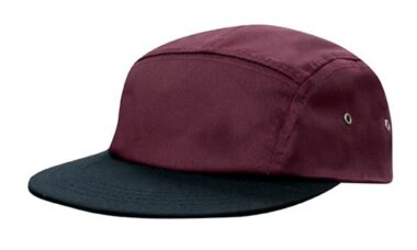 Maroon/Black - Cotton Twill Square Front