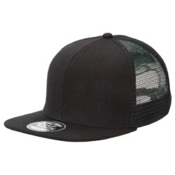Byron Youth Snapback Trucker - BLACK flat peak