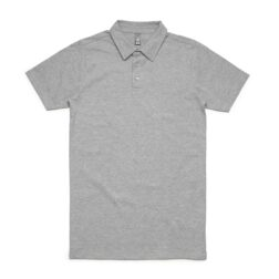 MENS CHAD POLO - Grey Marle