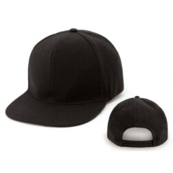 Exhibit Black Flat Brim Snapback