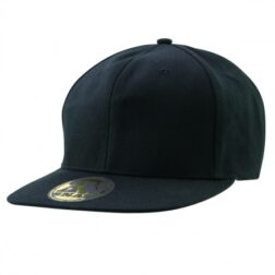 Black Urban Flat Brim Snap