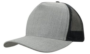 Grey Marle American Twill With Mesh Back
