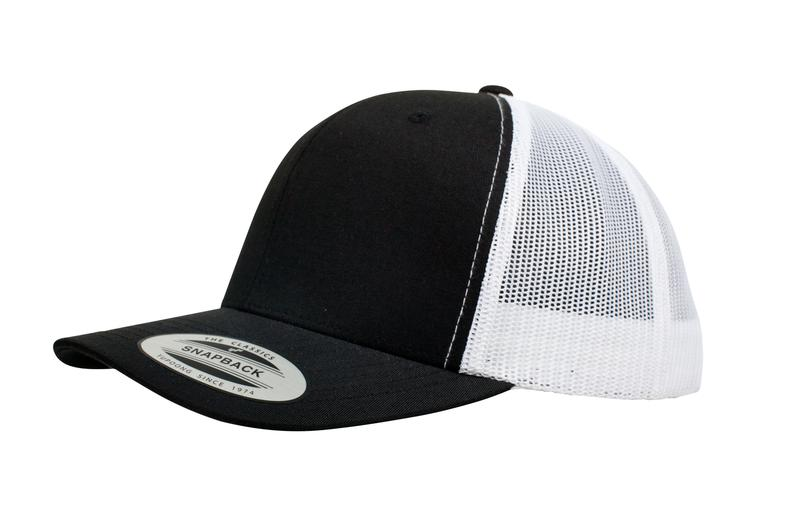 YUPOONG CLASSIC RETRO TRUCKER MODEL   6606T - BLACK WHITE - Nublank Caps f44530eb9f1