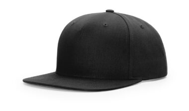 955 PINCH FRONT STRUCTURED SNAPBACK - Black